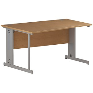 Image of Impulse Plus Wave Desk / Left Hand / 1400mm Wide / Oak