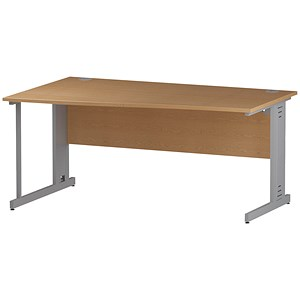 Image of Impulse Plus Wave Desk / Left Hand / 1600mm Wide / Oak