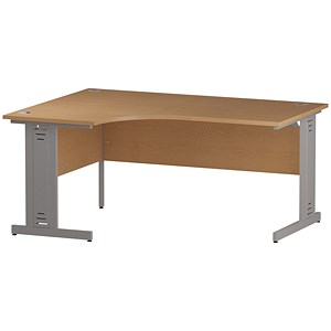 Image of Impulse Plus Radial Desk / Left Hand / 1600mm Wide / Oak