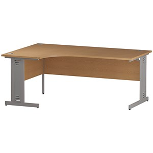 Image of Impulse Plus Radial Desk / Left Hand / 1800mm Wide / Oak
