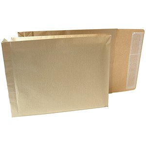 Image of New Guardian Armour Gusset Envelopes / 330x260mm / 50mm / Peel & Seal / Manilla / Pack of 100