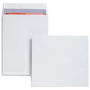 Image of Plus Fabric Gusset Envelopes / 305x250mm / 25mm Gusset / Peel & Seal / White / Pack of 100