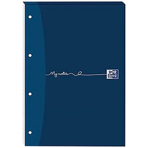Image of Oxford MyNotes Headbound Refill Pad / A4 / Ruled with Margin / 4 Holes / 160 Pages / Pack of 5