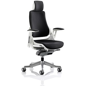Image of Zure Executive Mesh Chair / Headrest / Black