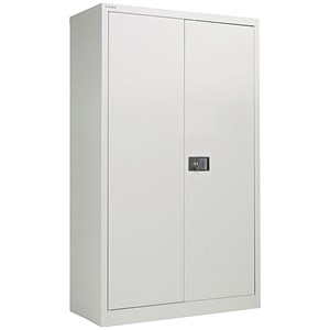 Image of Jemini Tall Steel Stationery Cupboard - Grey