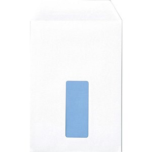 Image of Q-Connect C5 Pocket Envelopes with Window / White / Press Seal / 100gsm / Pack of 500