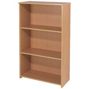 Jemini ferrera oak 1200mm medium bookcase kf73513.