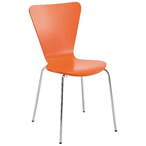 Image of Arista Bistro Chair - Orange