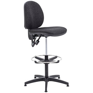 Image of Arista High Rise Chair / Adjustable Footrest / Charcoal