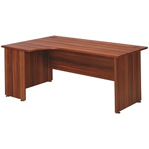 Image of Avior Executive Radial Desk / Left-Hand / 1800mm Wide / Cherry