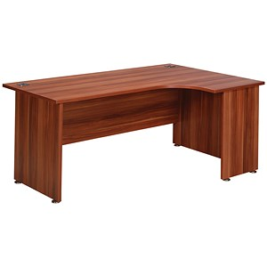 Image of Avior Executive Radial Desk / Right-Hand / 1800mm Wide / Cherry