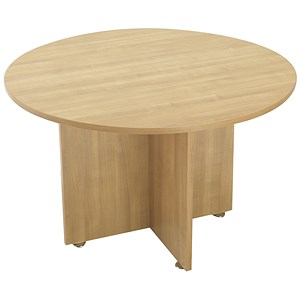 Image of Avior Round Meeting Table / 1200mm Dia / Ash