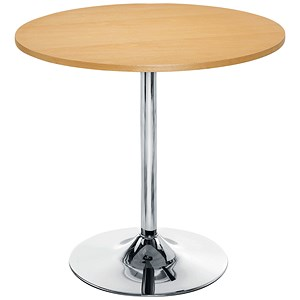 Image of Arista Small Bistro Trumpet Base Table - Beech