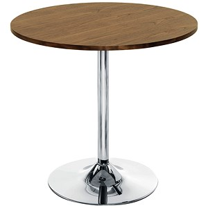 Image of Arista Small Bistro Trumpet Base Table - Walnut