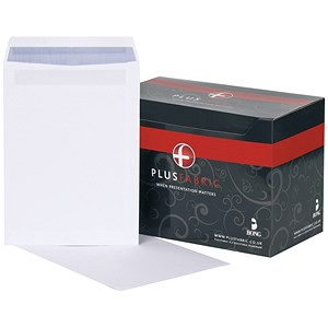 Image of Plus Fabric C4 Pocket Envelopes / White / Press Seal / 120gsm / Pack of 250