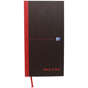 Image of Black n' Red Casebound Notebook / One-third xA3 / Ruled / 192 Pages / Pack of 5