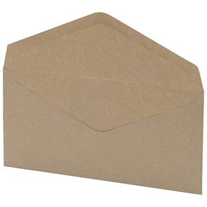 Image of 5 Star DL Envelopes with Window / Manilla / Gummed / 75gsm / Pack of 1000