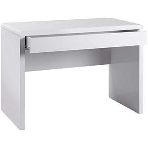 Image of Luxor Home Office Workstation - White Gloss