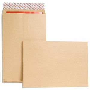 Image of New Guardian Heavyweight Gusset Envelopes / 381x254mm / 25mm / Peel & Seal / Manilla / Pack of 100