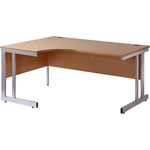 Image of Momento Radial Desk / Left Hand / 1600mm Wide / Oak
