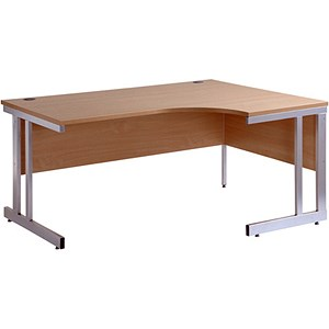 Image of Momento Radial Desk / Right Hand / 1600mm Wide / Oak