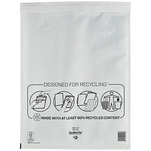 Image of Mail Lite Bubble Lined Postal Bag / White / 350x470mm / Pack of 50