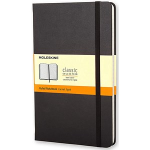 Image of Moleskine Classic Notebook / Hard Cover / Large / Ruled / Black