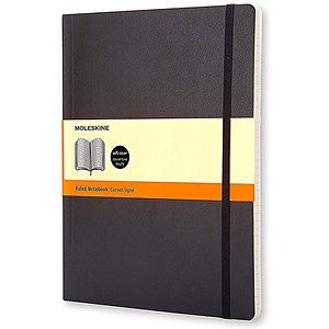 Image of Moleskine Notebook / Soft Cover / Extra Large / Ruled / Black