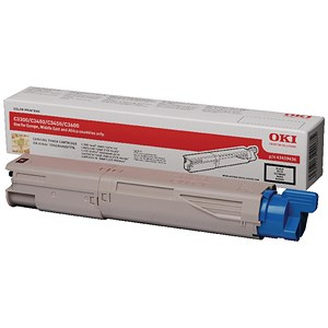 Image of Oki 43459436 Black Laser Toner Cartridge