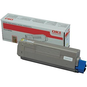 Image of Oki C610 Yellow Laser Toner Cartridge