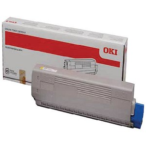 Image of Oki C822 Yellow Laser Toner Cartridge