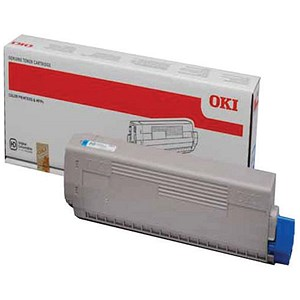 Image of Oki C822 Cyan Laser Toner Cartridge