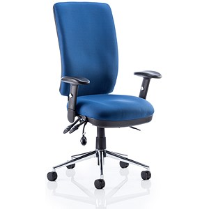 Image of Chiro High Back Operator Chair - Blue