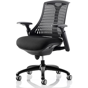 Image of Flex Task Operator Chair / Black Frame / Black Seat / Black Back