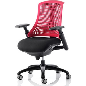 Image of Flex Task Operator Chair / Black Frame / Black Seat / Red Back