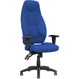Image of Galaxy High Back Operator Chair - Blue