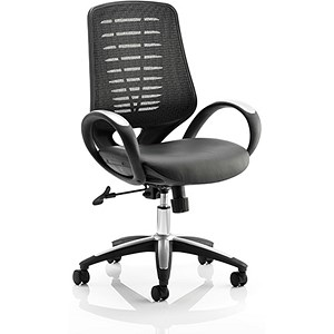 Image of Sprint Leather Operator Chair - Black