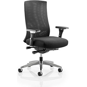 Image of Tesla Mesh Back Operator Chair with Arms - Black