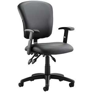 Image of Toledo Leather Operator Chair - Black