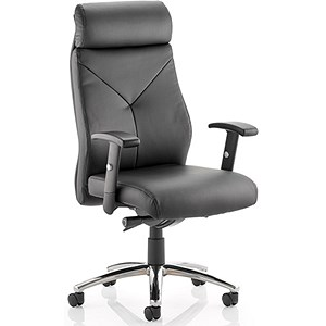 Image of Tyler Leather Operator Chair - Black