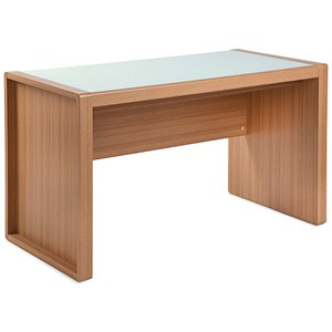 Image of Rio Home Office Desk - Oak With Glass Top