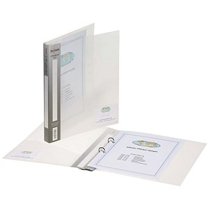 Image of Snopake Ring Binder / 40mm Spine / 25mm Capacity / A4 / Clear / Pack of 10