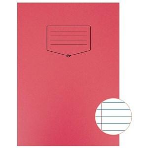 Image of Tough Shell A4 Exercise Book / Feint Ruled / Margin / Red / Pack of 25