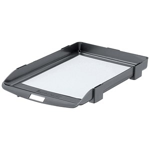 Image of Rexel Agenda Classic 35 Letter Tray / Stackable / W382xD246xH35mm / Charcoal