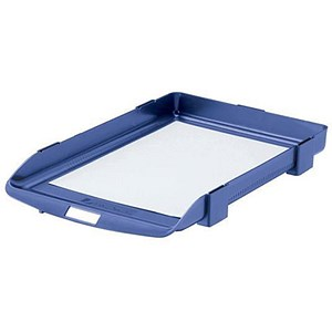 Image of Rexel Agenda Classic 35 Letter Tray / Stackable / W382xD246xH35mm / Blue