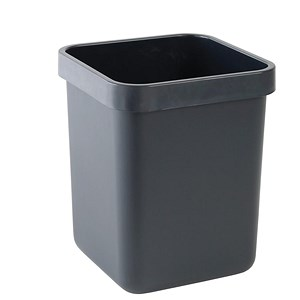 Image of Rexel Agenda Classic Rectangular Waste Bin / W311xD311xH390mm / 28 Litres / Charcoal