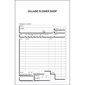 Image of Twinlock Scribe 654 Counter Sales Receipt Business Form / 3-Part / Pack of 75
