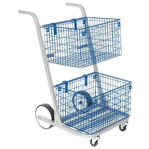 Image of Go Secure Major Mail Trolley - Silver