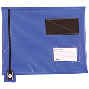 Image of Go Secure Flat Mailing Pouch / 286x336mm / Blue