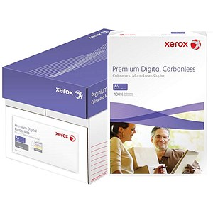 Image of Xerox NCR Digital Laser Carbonless Paper / 2 Part / White & Yellow / 5 x 250 Sheets